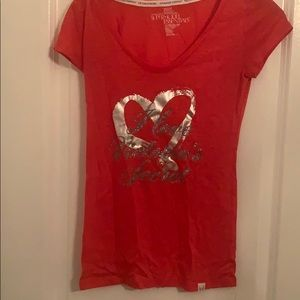 Red Victorias Secret Supermodel Essentials T-Shirt